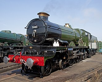 """GWR 4073 Class - Preserved loco 5043 """"Earl of Mount Edgcumbe"""""""