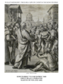 Early life of Christ in the Bowyer Bible print 21 of 21. healing of a paralytic by Jesus. Vos.png