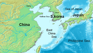 East China Sea A marginal sea of the Pacific Ocean between the south of Korea, the south of Kyushu, Japan, the Ryukyu islands and mainland China
