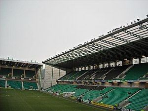 Easter Road - The West Stand, constructed in 2001.