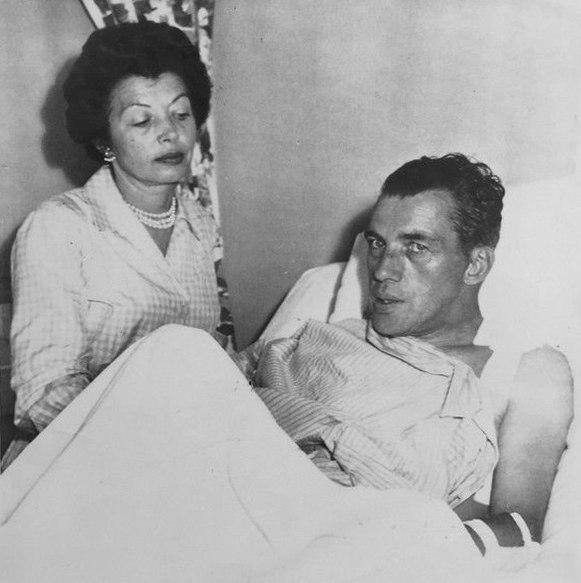 Ed Sullivan with wife 1956