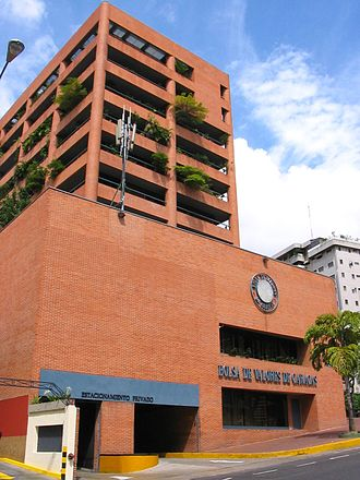Caracas - Caracas Stock Exchange building in El Rosal district