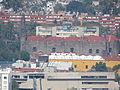 Edificios y templo de Tlatelolco desde la Torre Latinoamericana, CDMX 01.JPG