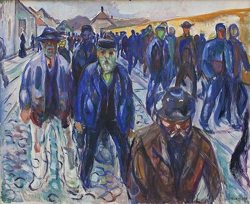 Edvard Munch, Hjemvendende arbejdere, 1914, KMS3823, SMK