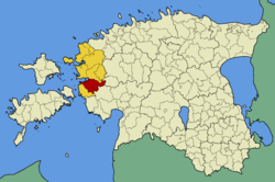 Lihula Parish within Lääne County.
