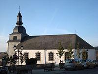 Eglise paroissiale Saint-Firmin de Rochehaut. Vue du Sud-Est. 2011.JPG