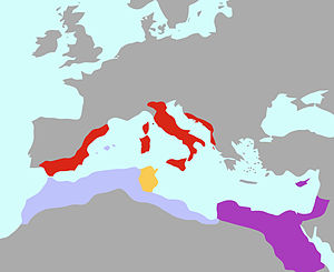 Algeria - Numidia along with Egypt, Rome, and Carthage 200 BC