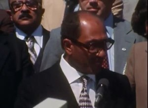 Файл:Egyptian President Sadat's Remarks Upon His Arrival at Camp David Summit , 5 September 1978.webm