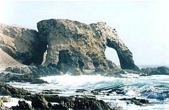 Nasca Province - Elephant Rock on the coast of Nazca Province