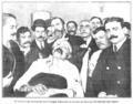 El cadáver del terrorista José Coregia Taborello en la Casa de Socorro del distrito del Centro, de Campúa, Nuevo Mundo, 26-05-1910.png