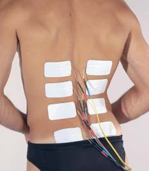 Locomotion in space - Electrical Muscle stimulation NMES for back.