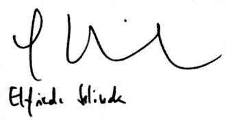 Elfriede Jelinek - Image: Elfriede Jelinek Autograph