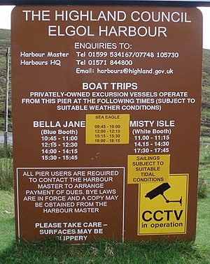 Elgol - Image: Elgol harbour boat trips schedules