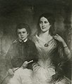 Eliza O'Flaherty (mother of Kate Chopin) with Kate's half-brother George O'Flaherty.jpg