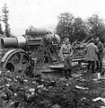 Első világháború, Skoda 30,5 Mörser mozsárágyú az olasz fronton. Fortepan 15485.jpg