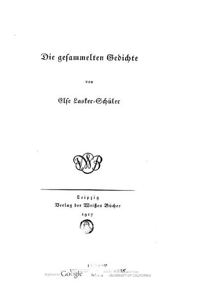 File:Else Lasker Schueler Die gesammelten Gedichte 1917.pdf