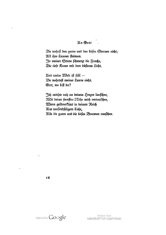 Meine du gedicht bist welt Gedichte 1