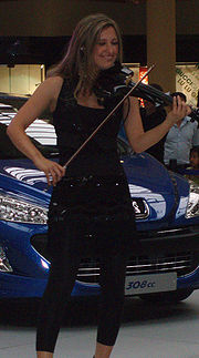 Elspeth Hanson of Bond performing at the Metrocentre in Gateshead, 2009