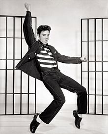 Presley in a publicity photo for Jailhouse Rock