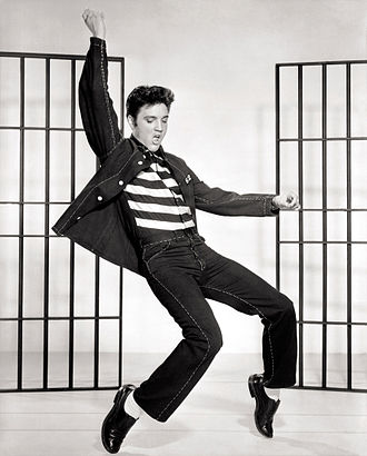 Elvis Presley on film and television - Image: Elvis Presley Jailhouse Rock