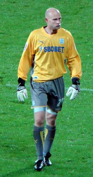 Peter Enckelman - Enckelman playing for Cardiff City in 2009