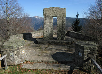 "Strand School - ""Engländerdenkmal"" (""Monument to Englishmen""), at Schauinsland, Black Forest, Germany"