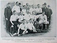 11cfaf739 The England team before a match against Scotland at Richmond in 1893