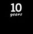 English Wikipedia tenth anniversary logo.png