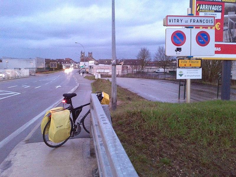 Entrée à Vitry-le-François (Marne)