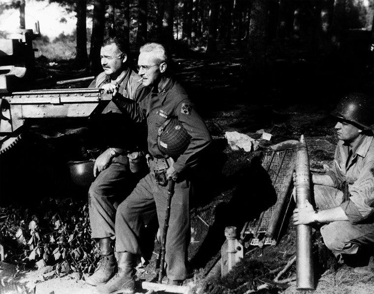 Ernest Hemingway and Buck Lanham, 1944