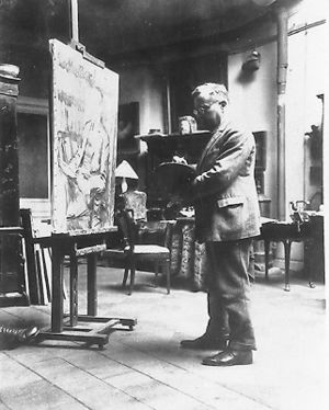 Ernst Oppler - Ernst Oppler in his studio, 1926
