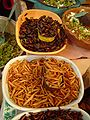 Escamoles, chahuis, chinicuiles y chapulines. Mercado de Tula.jpg