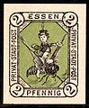Essen 2 Pf German local stamp 1887.jpg