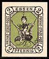 Essen 2 Pf German local stamp 1887.jpg
