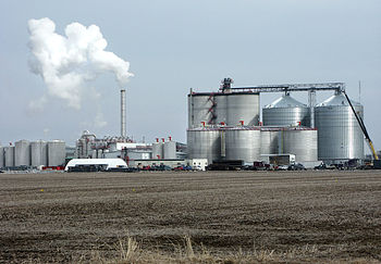 Ethanol fuel plant in West Burlington, Iowa.