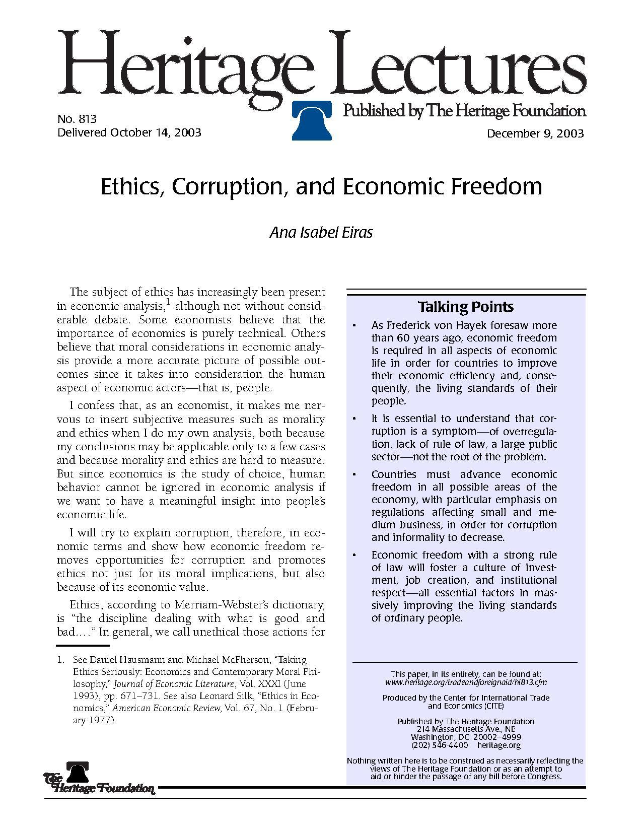 "ethics and corruption Ethics and corruption to begin our discussion of corruption, let's first define it in a business context corruption is ""giving or obtaining advantage through."