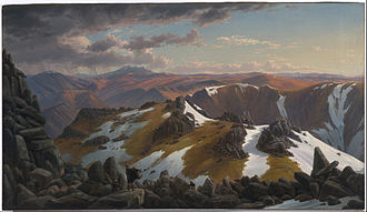 Eugene von Guerard - North-east View from the Northern Top of Mount Kosciusko, 1863