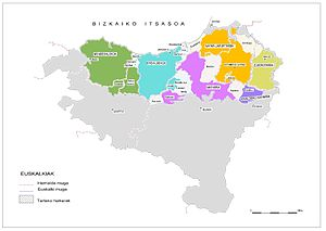 Basque dialects - Map of Basque dialects (Koldo Zuazo, 1998)