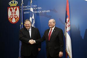 Ivan Mrkić - Greek Foreign Minister Evangelos Venizelos (left) and Ivan Mrkić in February 2014