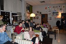 Evening with Ales Pushkin - Presentation Portrait of Chopin in Anticafe Fisher 10.02.2015 01.JPG