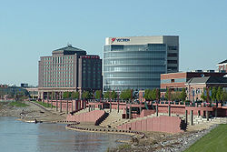 Downtown Evansville riverfront.
