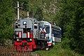 Excursion train of Circum-Baikal railway- ED9MK-0029 EMU under TEM2-6550 (31431218564).jpg
