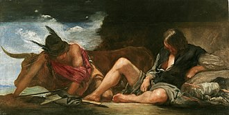 Argus Panoptes - Image: Fábula de Mercurio y Argos, by Diego Velázquez