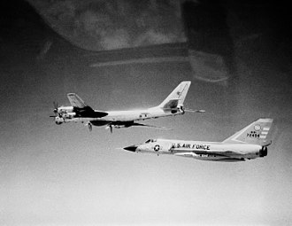 102nd Intelligence Wing - F-106A intercepting Soviet Tu-95 Bear D bomber aircraft off Cape Cod on 15 April 1982