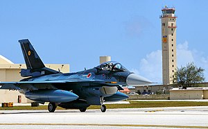F-2A (530) of 6 Sqn arrives at Andersen Air Force Base, -30 Jan. 2009 a