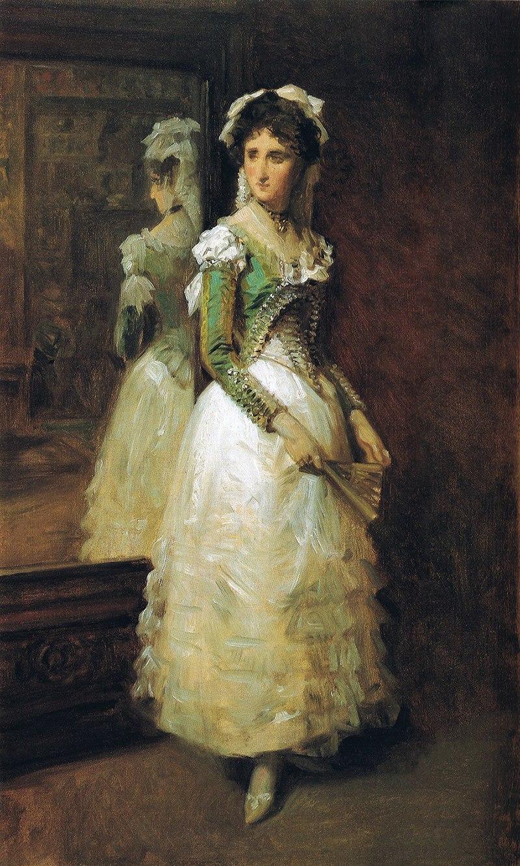 F. de Madrazo - 1884, María Luisa Fortuny, nieta del pintor, con traje de maja (Colección particular, 53 x 42 cm, boceto).jpg