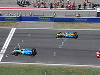 Alonso and Fisichella make it an all Renault front row.
