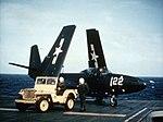 FH-1 Phantom on USS Saipan (CVL-48) with folded wings 1948.jpg