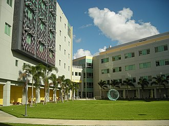 Florida International University - Academic Health Center Buildings, home of the Wertheim College of Medicine and the Robert Stempel College of Public Health and Social Work.