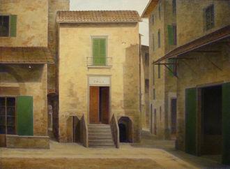 Fabio Borbottoni - Image: Fabio borbottoni, 1820 1902, chiesa della Palla
